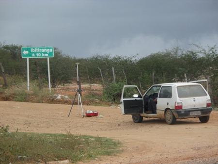 Topografia estrada de Ibitiranga