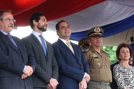 Governador Paulo Camara durante cerimonia de formatura do curso da PMPE11